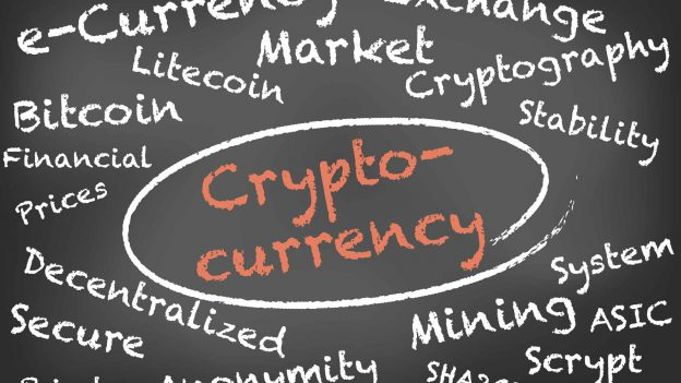 Crypto Currency Word Bubble